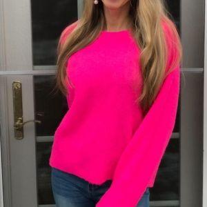 Zara neon pink sweater, oversized, M